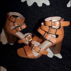 Nine West Strapped Heels NWOT